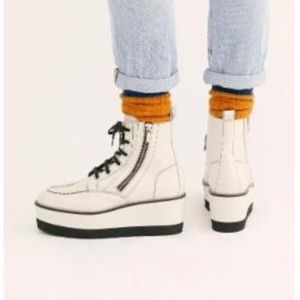 Free People Shoes - *Last Pair* Free People Chunky White Boots